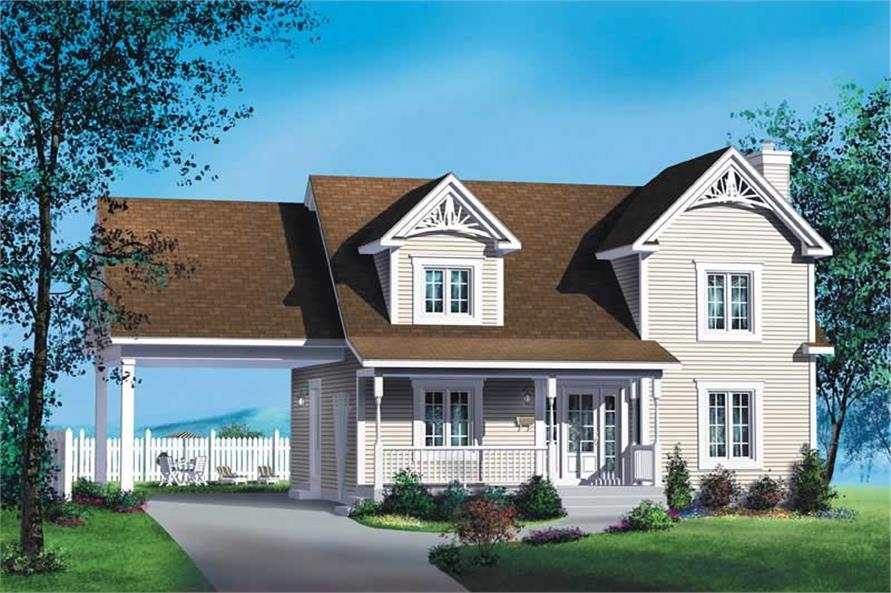3-Bedroom, 1621 Sq Ft Multi-Level Home Plan - 157-1353 - Main Exterior