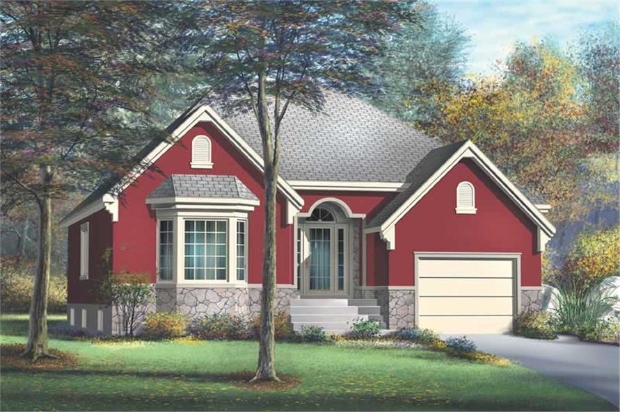 2-Bedroom, 1257 Sq Ft Craftsman House Plan - 157-1354 - Front Exterior