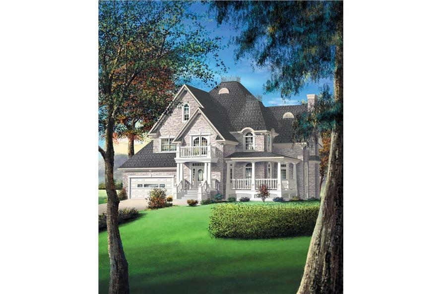 4-Bedroom, 3196 Sq Ft Multi-Level Home Plan - 157-1357 - Main Exterior