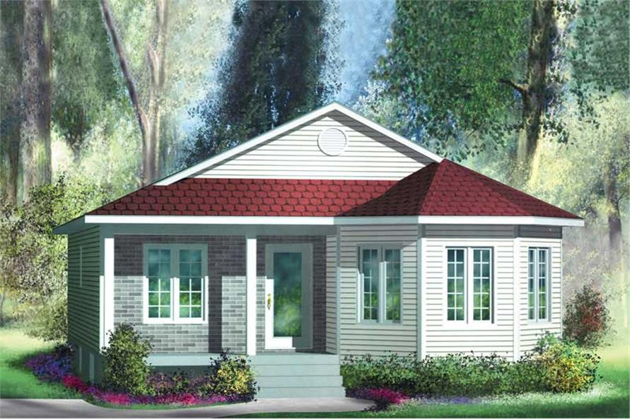 2-Bedroom, 1050 Sq Ft Bungalow Home Plan - 157-1359 - Main Exterior