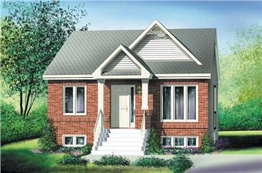 2-Bedroom, 884 Sq Ft Bungalow House Plan - 157-1360 - Front Exterior