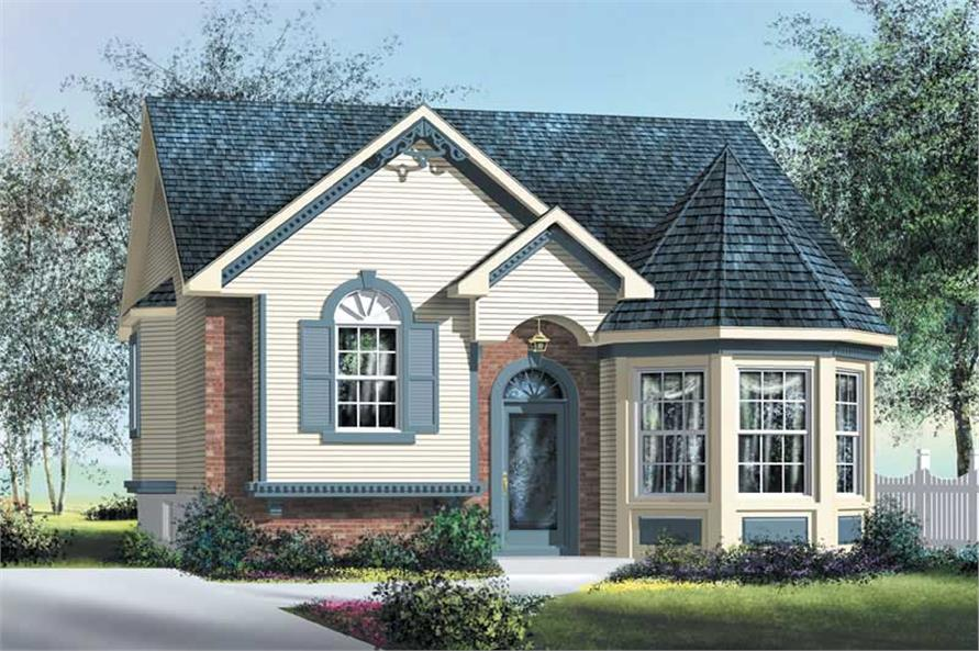 2-Bedroom, 1028 Sq Ft Bungalow House Plan - 157-1362 - Front Exterior