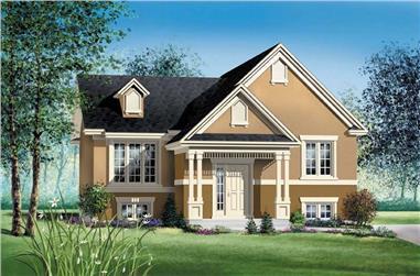 2-Bedroom, 960 Sq Ft Ranch Home Plan - 157-1365 - Main Exterior