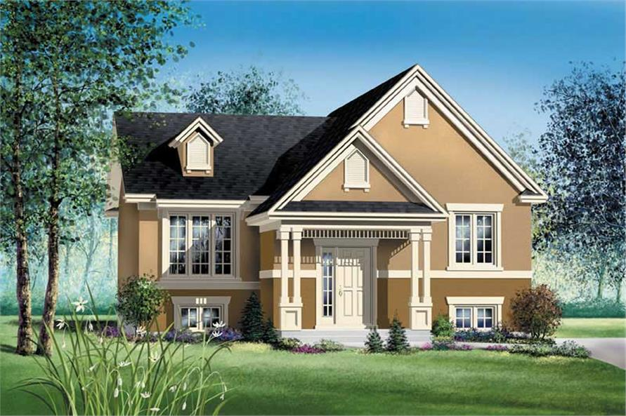 2-Bedroom, 960 Sq Ft Ranch Home Plan - 157-1365 - Main Exterior
