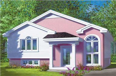 2-Bedroom, 886 Sq Ft Ranch Home Plan - 157-1366 - Main Exterior