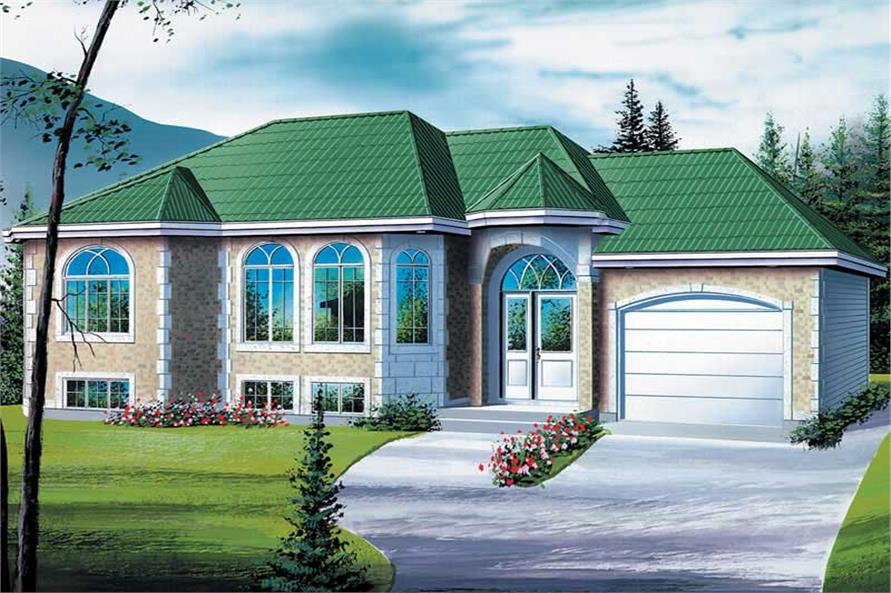 2-Bedroom, 1120 Sq Ft European Home Plan - 157-1368 - Main Exterior