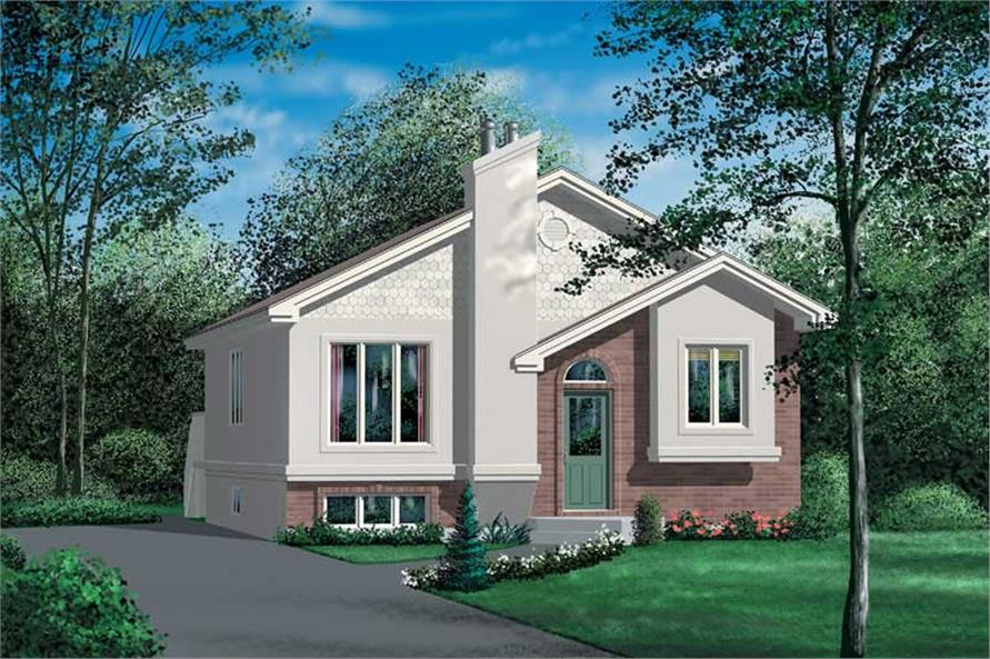 2-Bedroom, 1044 Sq Ft Bungalow House Plan - 157-1369 - Front Exterior