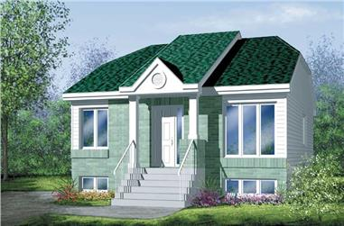 2-Bedroom, 884 Sq Ft Bungalow House Plan - 157-1370 - Front Exterior