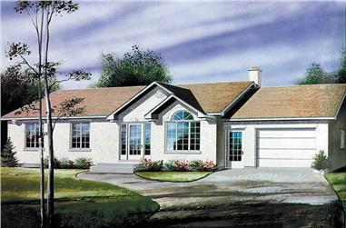 3-Bedroom, 1131 Sq Ft Ranch Home Plan - 157-1371 - Main Exterior