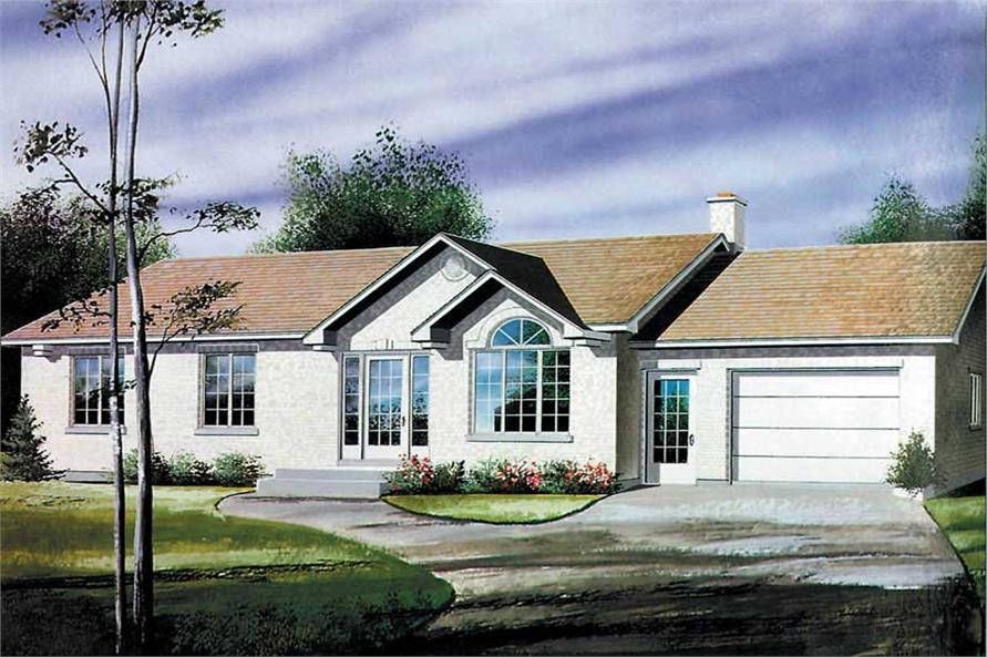 3-Bedroom, 1131 Sq Ft Ranch Home Plan - 157-1371 - Main Exterior
