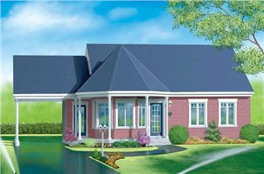 3-Bedroom, 1188 Sq Ft Country Home Plan - 157-1372 - Main Exterior