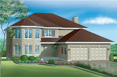 4-Bedroom, 2522 Sq Ft European House Plan - 157-1374 - Front Exterior