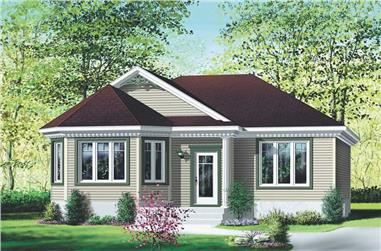 2-Bedroom, 1047 Sq Ft Ranch Home Plan - 157-1375 - Main Exterior