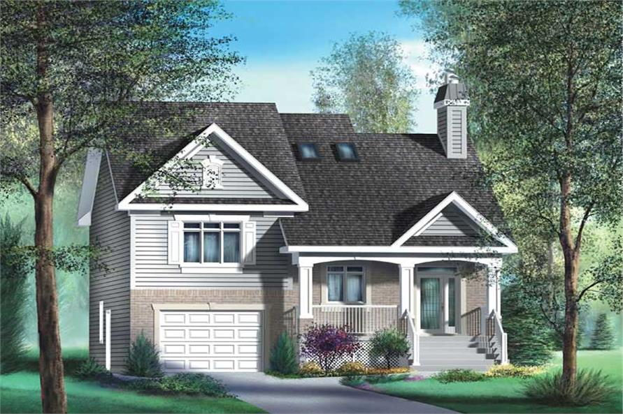 4-Bedroom, 1605 Sq Ft Country Home Plan - 157-1377 - Main Exterior