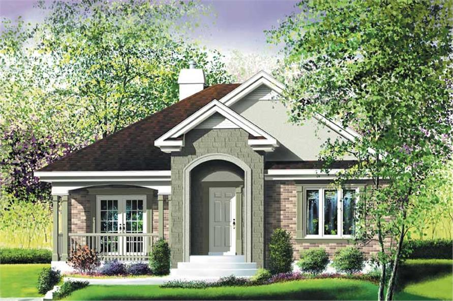 2-Bedroom, 1142 Sq Ft Ranch Home Plan - 157-1378 - Main Exterior