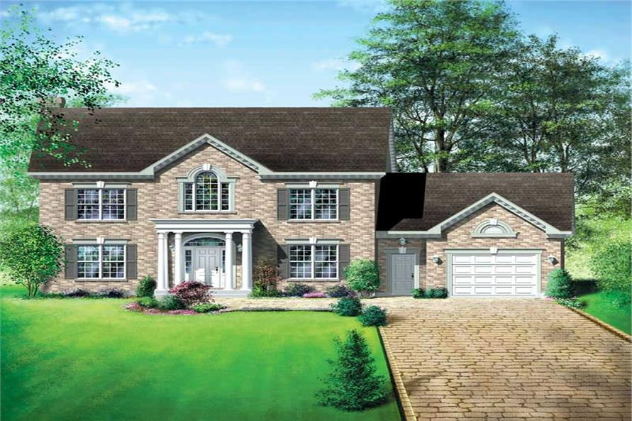 4-Bedroom, 2579 Sq Ft Multi-Level House Plan - 157-1380 - Front Exterior