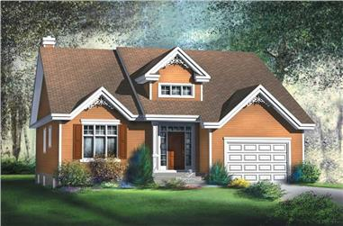 2-Bedroom, 1367 Sq Ft Bungalow House Plan - 157-1382 - Front Exterior