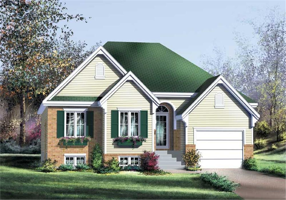 Bungalow home (ThePlanCollection: Plan #157-1387)