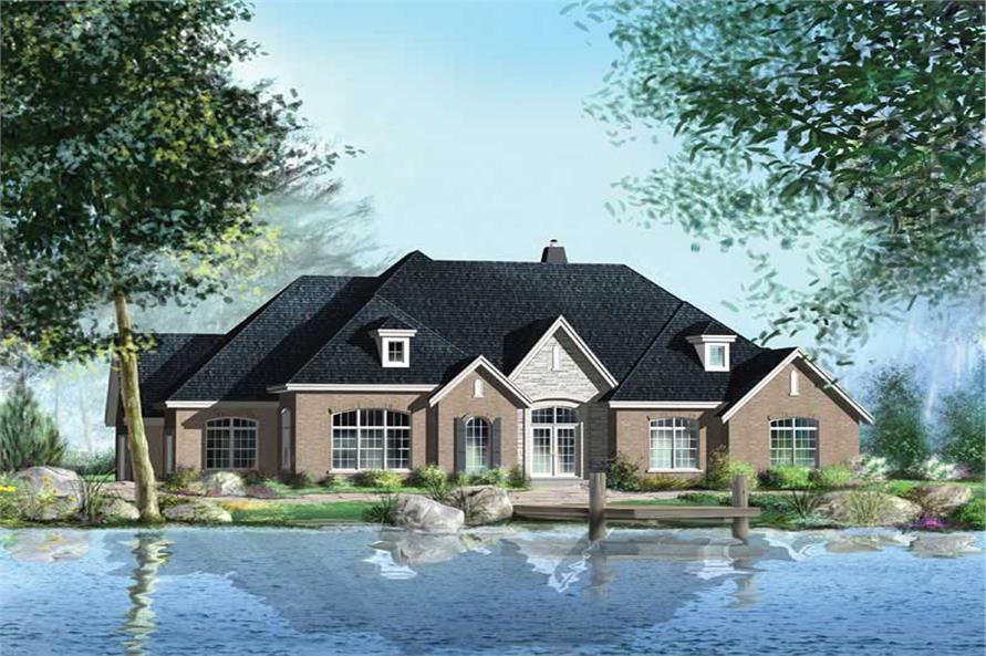 2-Bedroom, 2625 Sq Ft Ranch House Plan - 157-1388 - Front Exterior