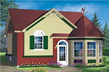 2-Bedroom, 1028 Sq Ft Bungalow Home Plan - 157-1389 - Main Exterior