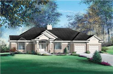 3-Bedroom, 3775 Sq Ft Ranch House Plan - 157-1390 - Front Exterior
