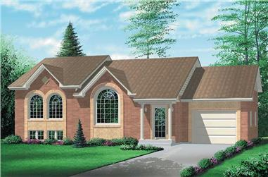 2-Bedroom, 1185 Sq Ft Colonial House Plan - 157-1391 - Front Exterior