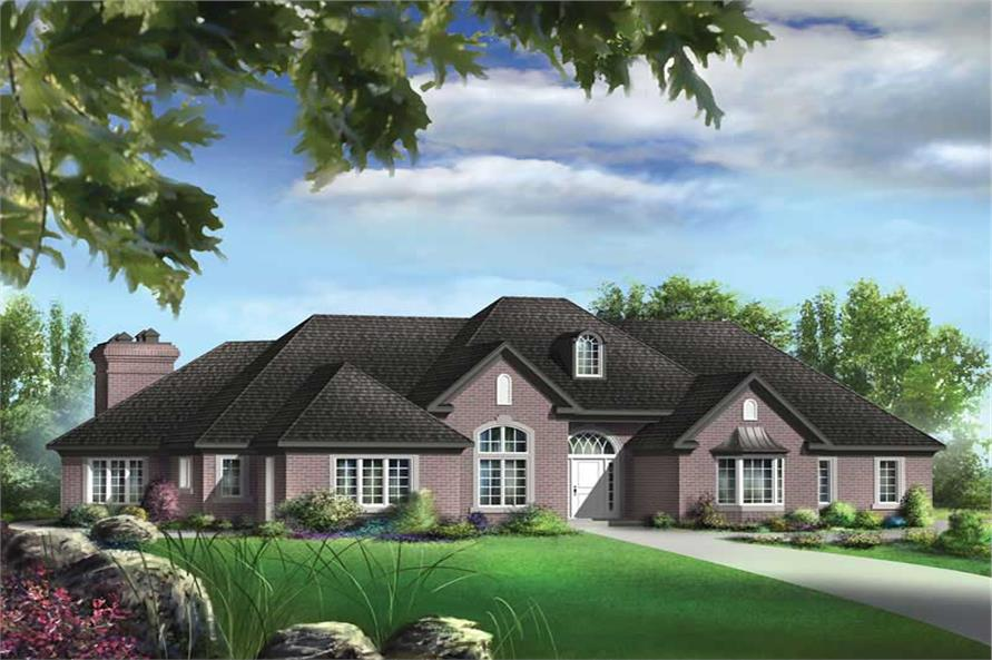 3-Bedroom, 2444 Sq Ft Ranch Home Plan - 157-1393 - Main Exterior