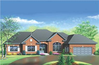 3-Bedroom, 2392 Sq Ft Ranch Home Plan - 157-1396 - Main Exterior