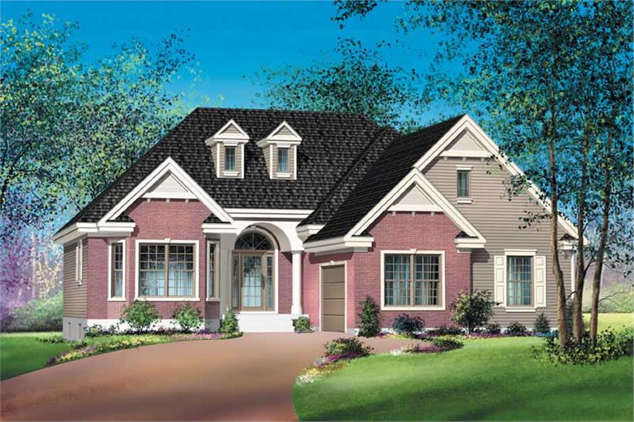 2-Bedroom, 1421 Sq Ft Craftsman Home Plan - 157-1397 - Main Exterior