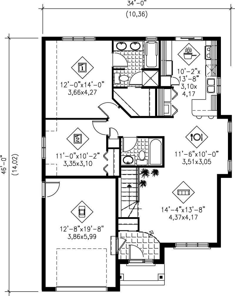Small traditional bungalow house plans home design pi for How much is 1100 square feet