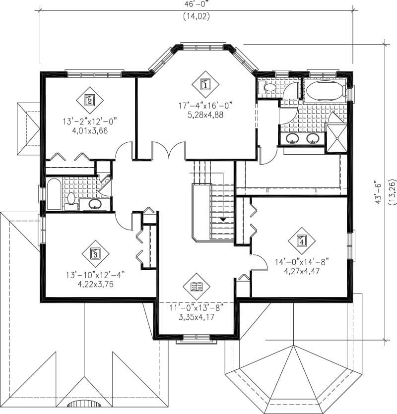 Multi level house plans home design pi 20403 12217 for Multi level floor plans