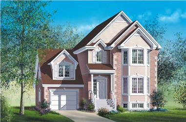 3-Bedroom, 2135 Sq Ft Multi-Level House Plan - 157-1400 - Front Exterior