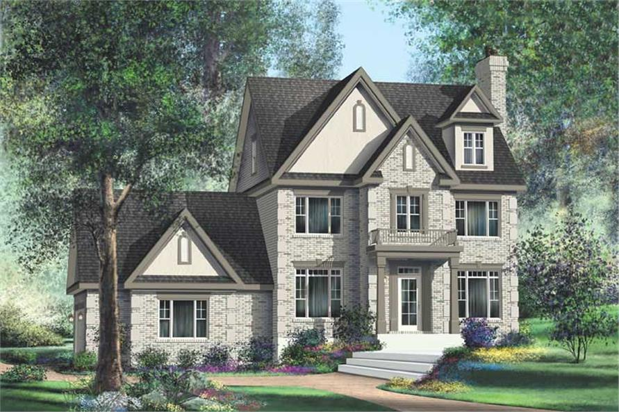 3-Bedroom, 2616 Sq Ft Multi-Level House Plan - 157-1402 - Front Exterior