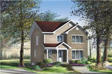 3-Bedroom, 1364 Sq Ft Ranch Home Plan - 157-1404 - Main Exterior