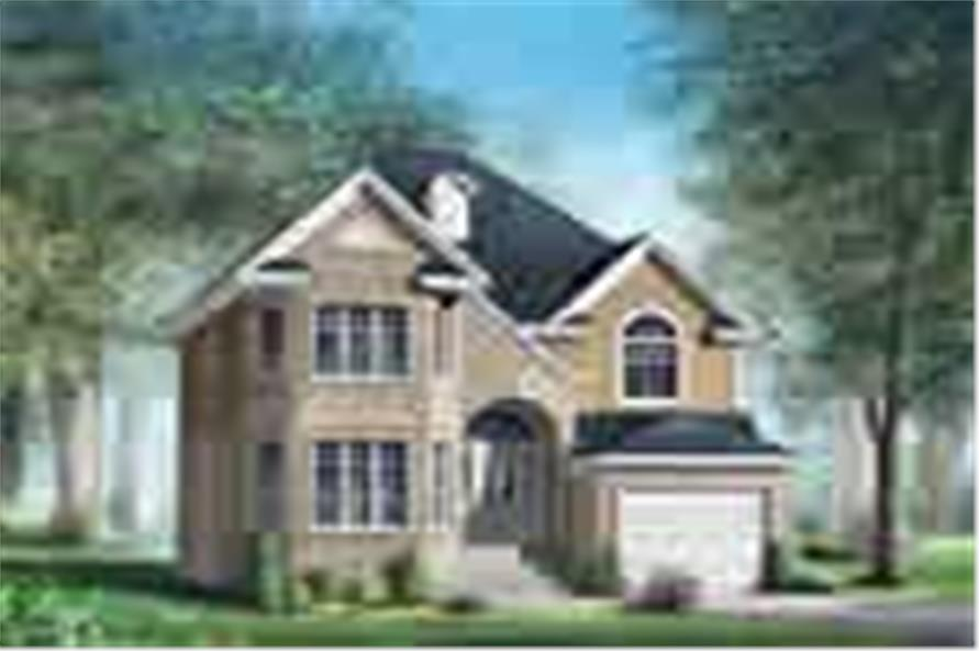5-Bedroom, 1820 Sq Ft Multi-Level Home Plan - 157-1405 - Main Exterior