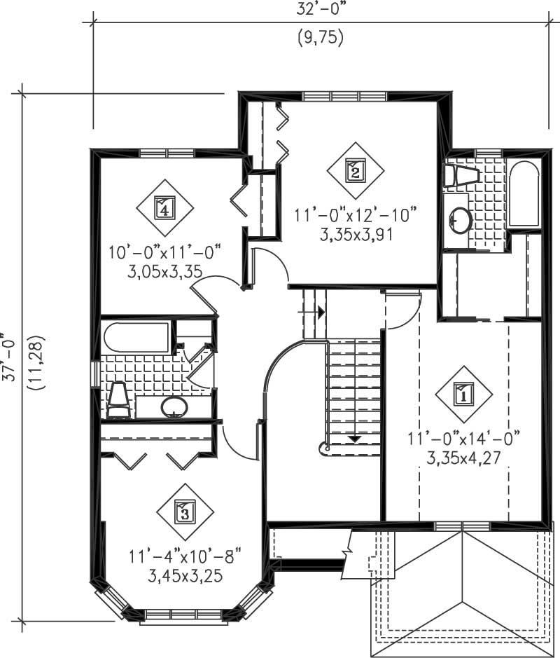 Multi level house plans home design pi 20474 12224 for Multi level home floor plans