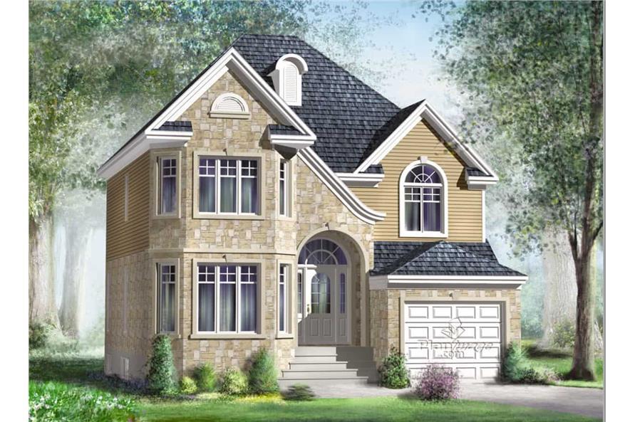 5-Bedroom, 1820 Sq Ft Multi-Level Home Plan - 157-1405 - Main Exterior