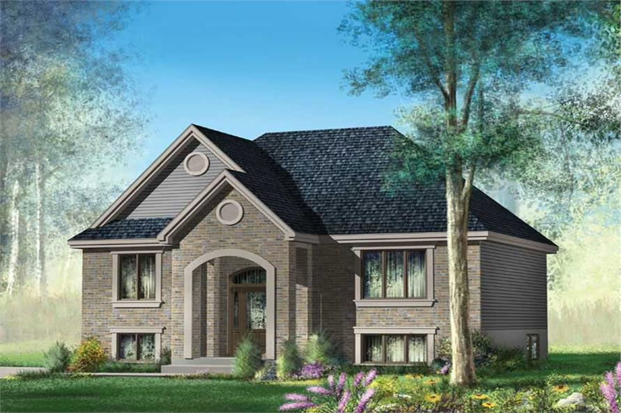 2-Bedroom, 921 Sq Ft Craftsman House Plan - 157-1406 - Front Exterior