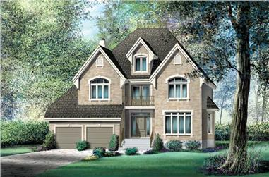 4-Bedroom, 3323 Sq Ft Multi-Level Home Plan - 157-1407 - Main Exterior