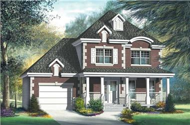 3-Bedroom, 1392 Sq Ft Multi-Level House Plan - 157-1411 - Front Exterior