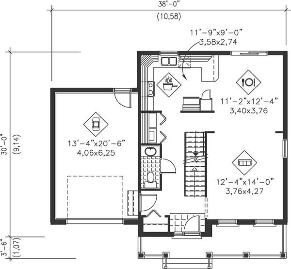 Small multi level house plans home design pi 20971 12968 for Multi level floor plans