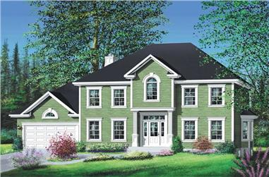 4-Bedroom, 3019 Sq Ft Multi-Level Home Plan - 157-1412 - Main Exterior