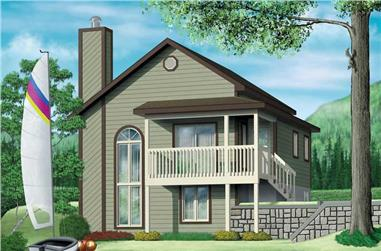 2-Bedroom, 1096 Sq Ft Country House Plan - 157-1416 - Front Exterior
