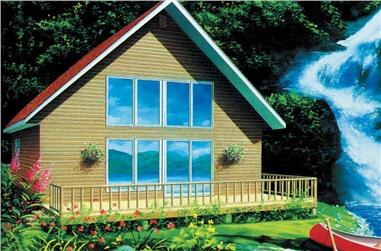 2-Bedroom, 766 Sq Ft Vacation Homes Home Plan - 157-1420 - Main Exterior