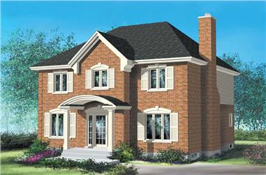 4-Bedroom, 1960 Sq Ft Multi-Level House Plan - 157-1423 - Front Exterior
