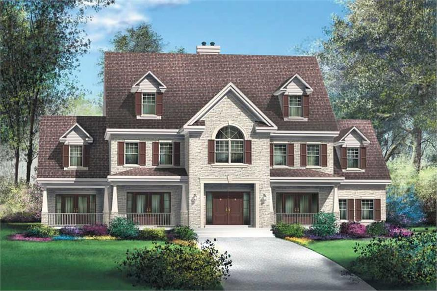 5-Bedroom, 4175 Sq Ft Luxury House Plan - 157-1425 - Front Exterior