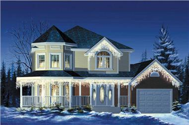 3-Bedroom, 1412 Sq Ft Small House Plans - 157-1427 - Main Exterior