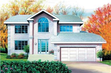 4-Bedroom, 2575 Sq Ft Craftsman Home Plan - 157-1428 - Main Exterior