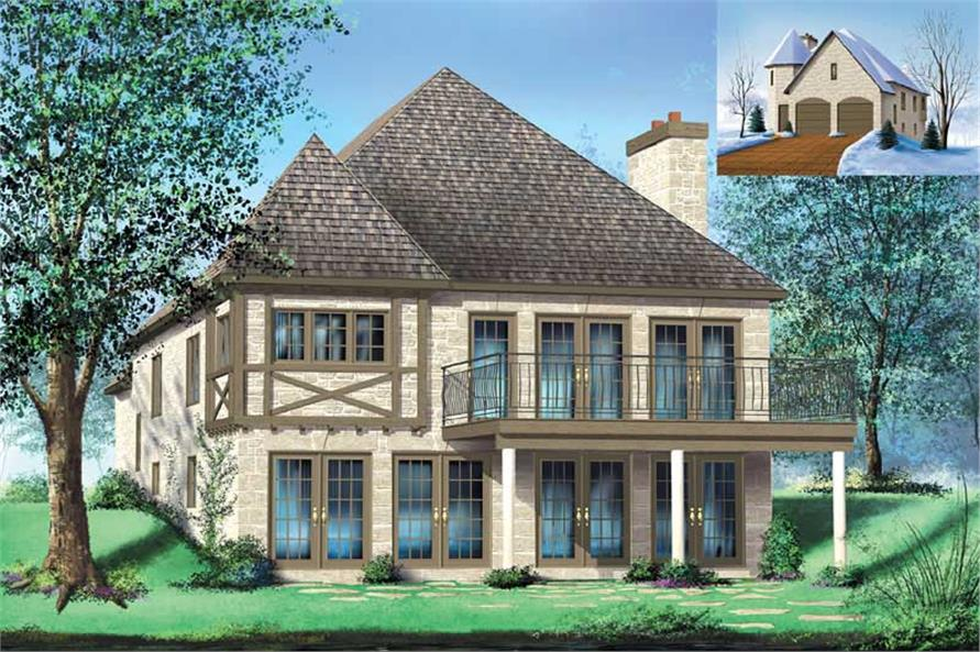 2-Bedroom, 3387 Sq Ft Multi-Level Home Plan - 157-1431 - Main Exterior