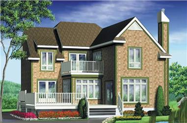 3-Bedroom, 1828 Sq Ft House Plan - 157-1432 - Front Exterior